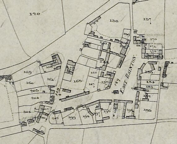 Extract from Easington tithe map